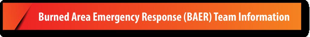 Burned Area Emergency Response (BAER) Team Information